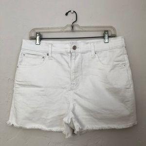 """GAP White High Rise 3"""" Denim Shorts"""